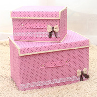 Storage Box Protable Storage Box for Clothes Bra Shoes Bedroom Clothing Container Organizer Boxes For Toys