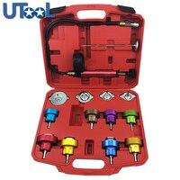 14PCs Universal Automotive Radiator Pressure Tester Kit Car Leak Detector tool Auto Cooling System Coolant Vacuum Purge