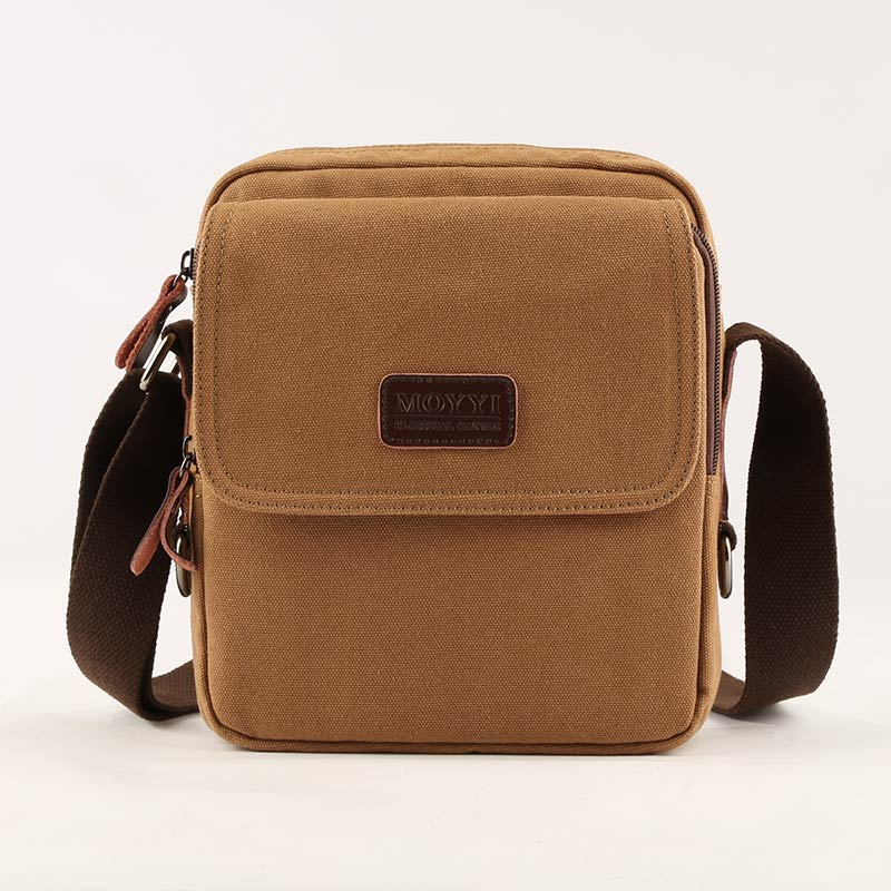 Moyyi New Arrive Men Canvas Bag Vintage Messenger Brand Business Casual Travel Shoulder Laptop Male Bolsa In Crossbody Bags From Luggage