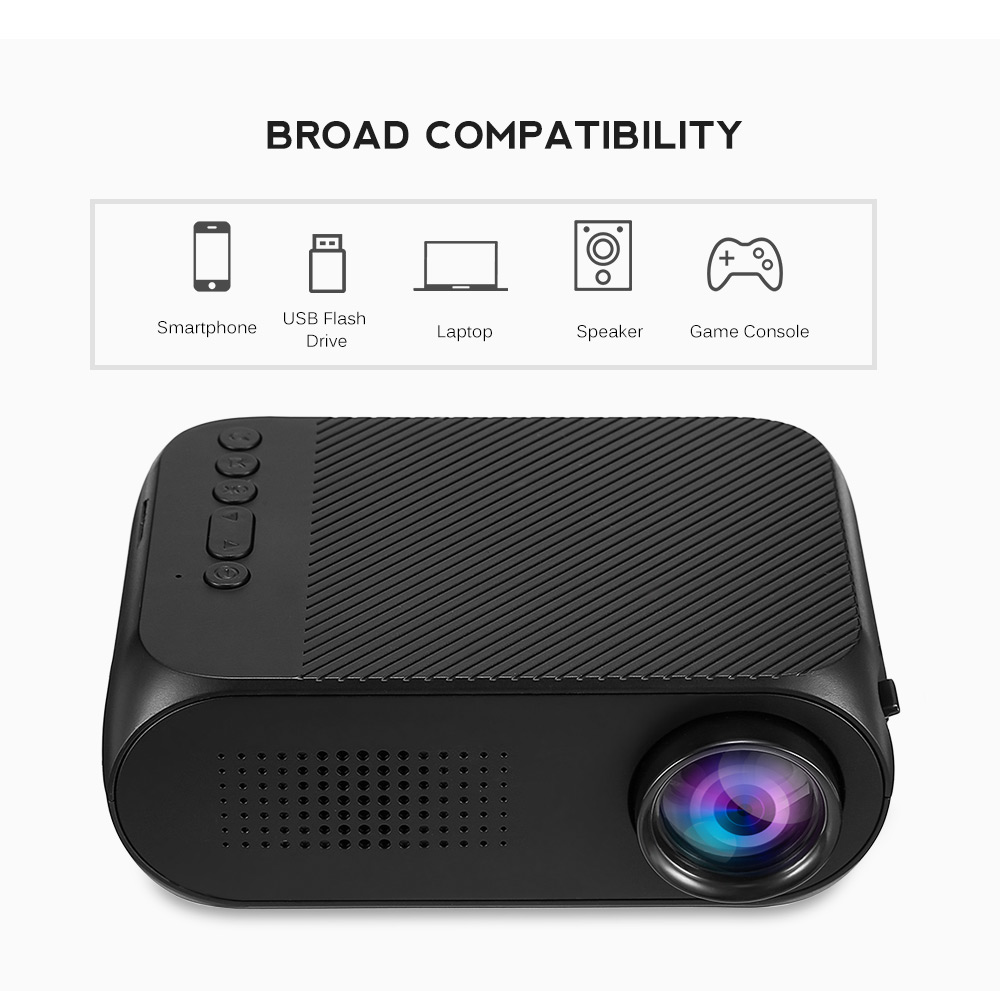 Excelvan YG320 Mini Projector Led Proyector Projetor 500LM Audio HDMI USB Mini YG-320 Projetor Home Theater Media Player Beamer (34)