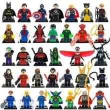 5Pcs lot Marvel Super Heroes Figures The Avengers Building Blocks Sets mini Bricks s Model Bricks