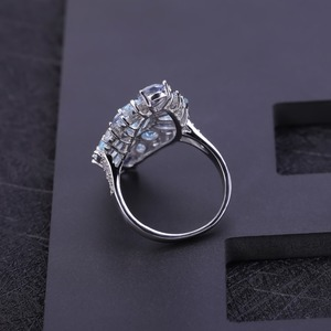 Image 4 - อัญมณีบัลเล่ต์ Multicolor Sky Topaz สีฟ้า Mystic ค็อกเทลค็อกเทลค็อกเทลค็อกเทลแหวนเงิน 925 แหวนพลอยเครื่องประดับ