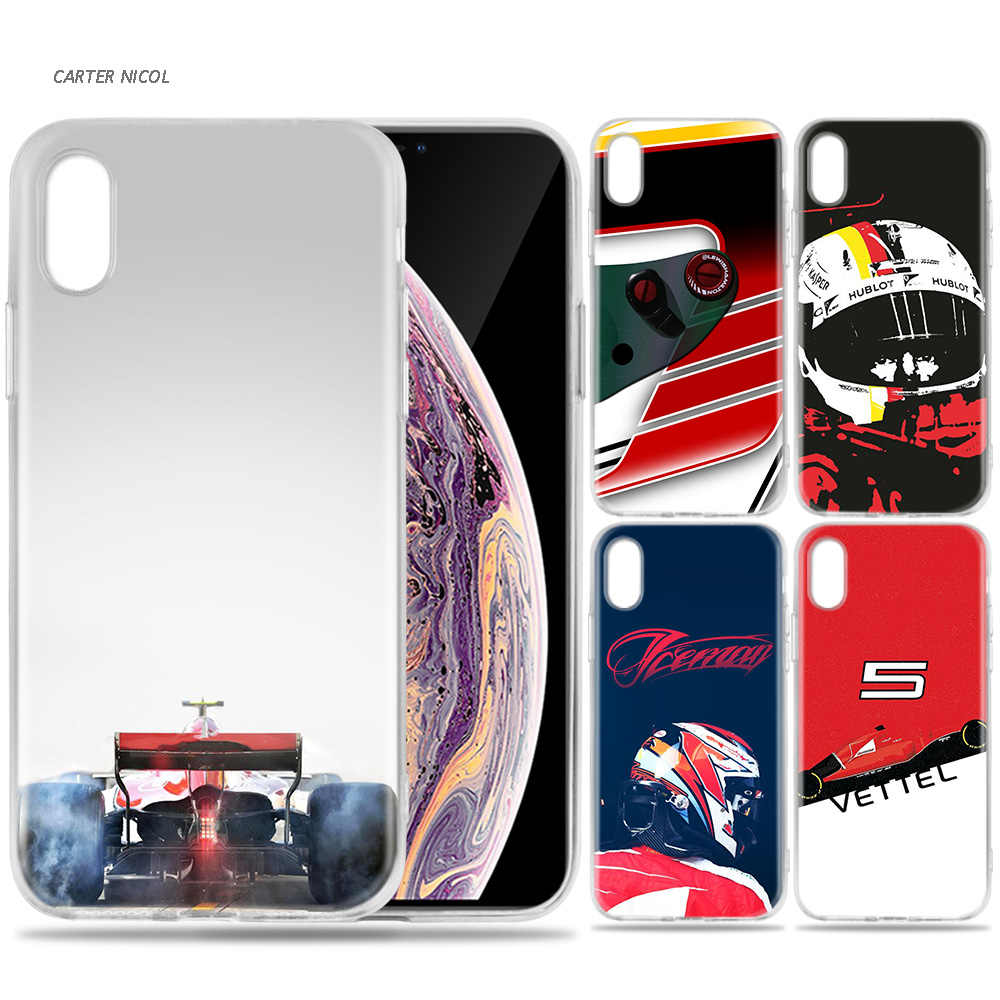 Case for iPhone 7 8 6 6s Plus 5 5S SE 5C X XS MAX XR Silicone Coque Cases Cover Sebastian Vettel