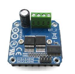 El Envío Gratuito! de alta potencia de módulo de la unidad de motor de coche inteligente BTS7960 43A unidad de refrigeración de semiconductores para arduino