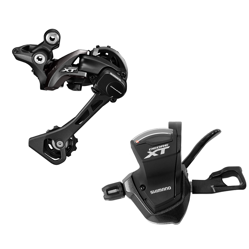 SHIMANO DEORE XT M8000 Groupset SL M8000 11s Speed Right SHIFT LEVER + RD M8000 REAR DERAILLEUR MTB цена