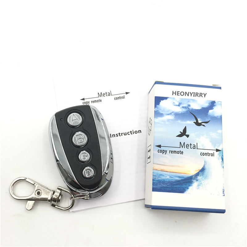 Télécommande universelle de clé ABCD 433.92MHZ clonage à distance 4 canaux Auto voiture porte de Garage duplicateur Code roulant pour voiture plus récent