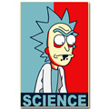 Rick and Morty Anime Art Silk Fabric Poster Vintage Print 13x20 inch Cartoon Picture for Living Room Wall Decoration Gift 006