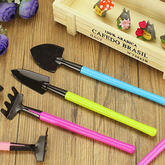 3PC Color  Mini Gardening Tools Garden Accessories Tools For Home Gardening Meat Growing Tools Small Shovel Spade Tool Decor