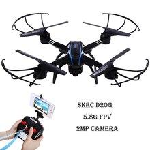 PERI D20G RC Quadcopter Drone Avec Appareil Photo 2MP 5.8G FPV 2.4 GHz 4 CH 6 Axe Gyro 3D Roulement RTF Télécommande RC Quadcopter Jouets
