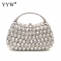 Polyester Clutch Ba New hollow & with rhinestone Solid more colors for choice Sold By PC