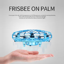 Anti-collision UFO Mini Drone Hand Flying Globe Quadcopter Hand Controlled Helicopter LED Induction Flying Ball Aircraft RC Toys(China)