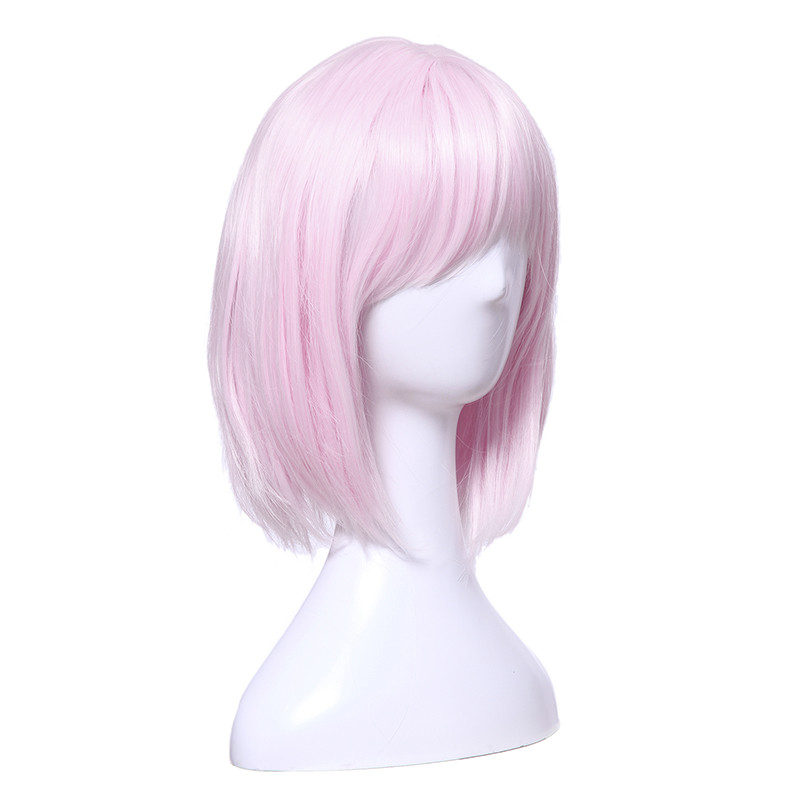 L-email peruk Game Öde Grand Order Mash Kyrielight Cosplay Parykar - Syntetiskt hår - Foto 3