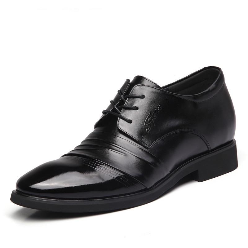 G0125 affaires hommes chaussures habillées Invisible à l'intérieur augmenter la hauteur hommes marié chaussure de mariage en cuir véritable chaussures pour hommes