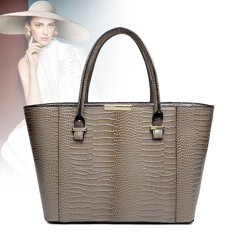 ФОТО 2016 women leather handbags bags women famous brand bolsas shoulder bags ladies handbags crocodile pattern casual totes 2447
