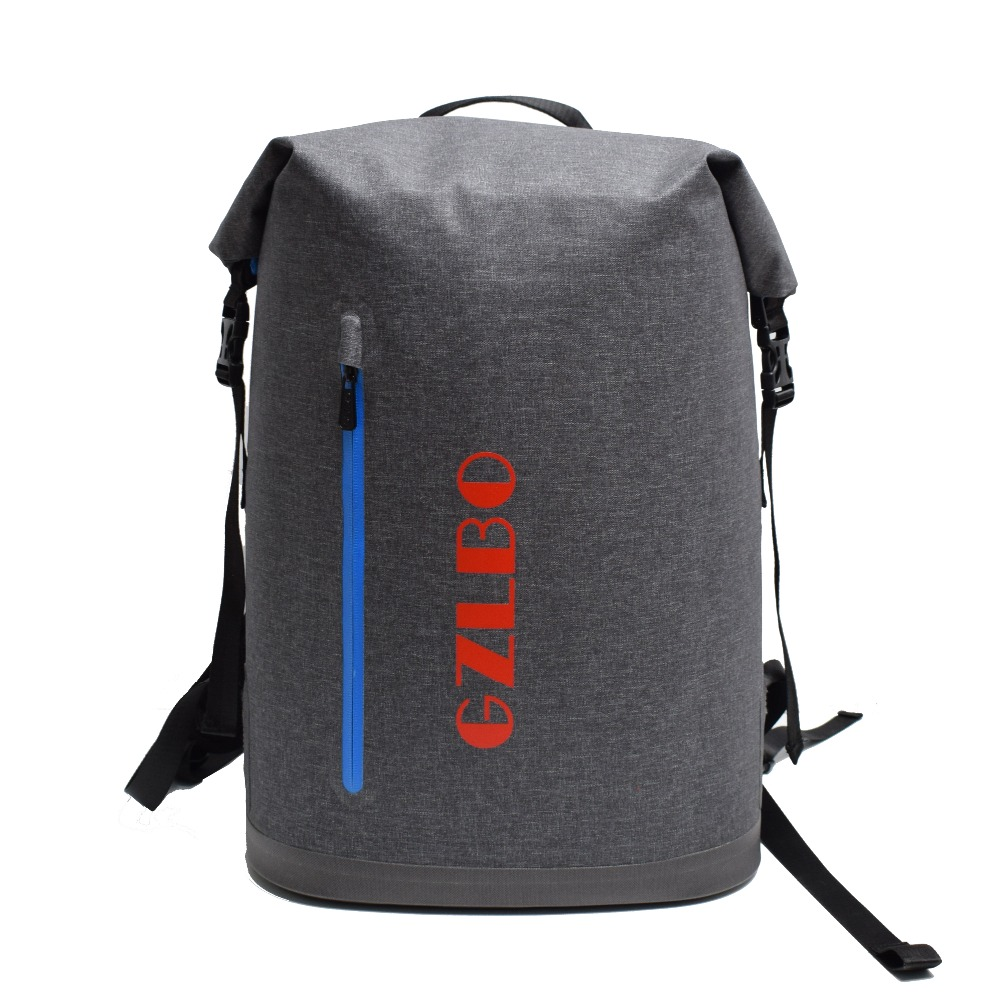 GZLBO 40Cans cooler bag Oxford TPU Dark Gray waterproof insulated food beer picnic cooler bag backpack with zipper pocket