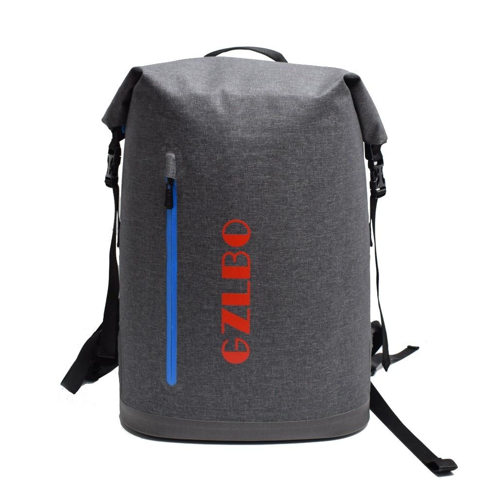 Gzlbo 40 банок сумка-холодильник Оксфорд ТПУ темно-серый Водонепроницаемый изоляцией пищевой пива Пикник сумка-рюкзак с карман на молнии