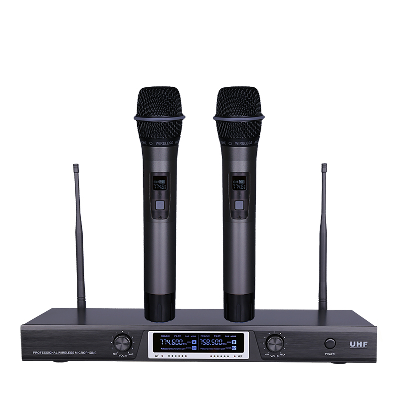 professional uhf wireless microphone manufacturers sr 88 dual channelshandheld mic system for. Black Bedroom Furniture Sets. Home Design Ideas