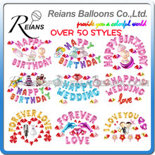 Reians Cartoon baby Happy Birthday Wedding Decoration Letter Number Helium Party Air Aluminum Foil Balloons Set suit globos(China)