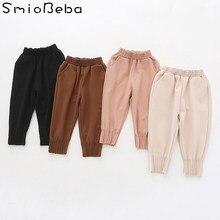 47ec7c0275fef 18 Korean Children' Trousers Pants Girls' Roman Cotton Trousers Pleated  Convergent Pants1-5 Years Autumn New Girls' Harem Pants