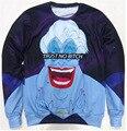 Hoodies unissex Mulheres Homens de Confiança Nenhuma Cadela Ursula Moletom 3d impressão engraçado dos desenhos animados topos de jumper pullover Suores plus size S-3XL