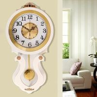 Free shipping European Decorative Quartz Clock Expresses Silent White Wall Clock