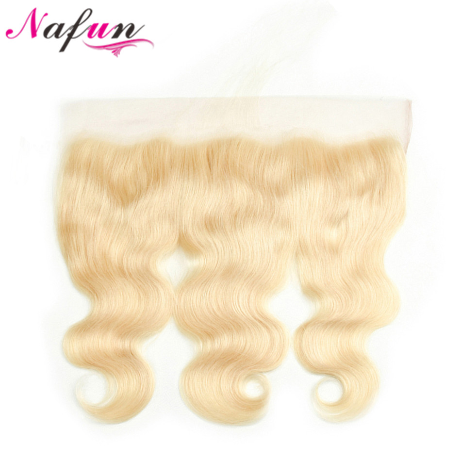 NAFUN 613 Frontal 13x4 Lace Frontal Closure Brazilian Body Wave Hair Human Hair Blond Frontal Swiss Lace Closure Non-Remy Hair
