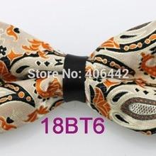 YIBEI Coachella Ties Black Beige Orange Paisley Bowties Man Adjustable Unisex  Bow Tie 7c59a391d6d8