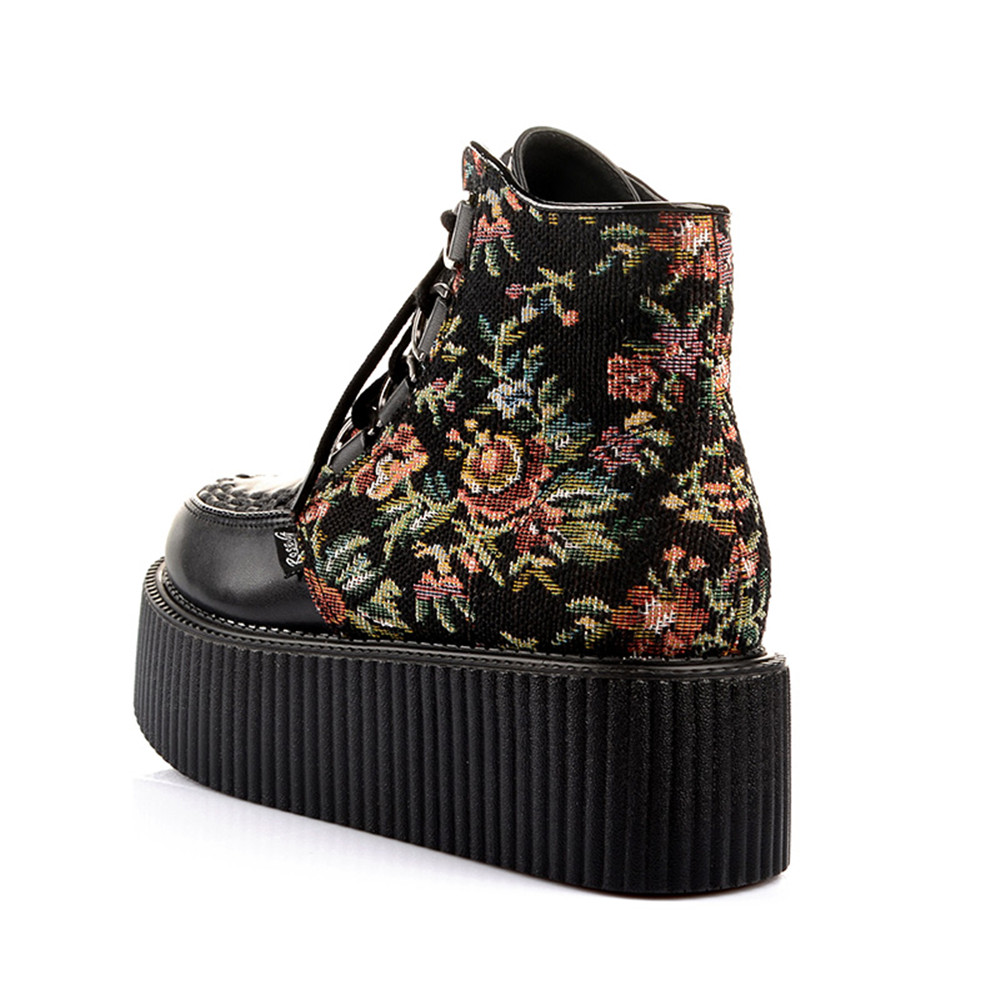 a4d0579ee5f14 RoseG Women s Handmade High Top Goth Punk Flats Platform Creeper Shoe -in  Ankle Boots from Shoes on Aliexpress.com