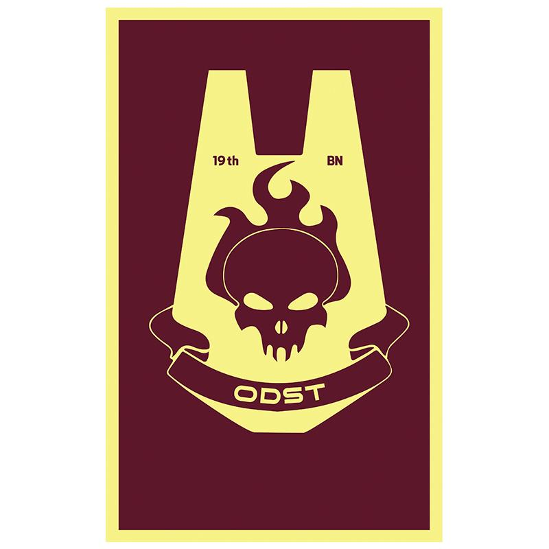 Free Shipping xvggdg <font><b>flag</b></font> 3x5ft ODST <font><b>Flag</b></font> Banner events Decorative <font><b>Flag</b></font> <font><b>90x150cm</b></font> 100D polyester image