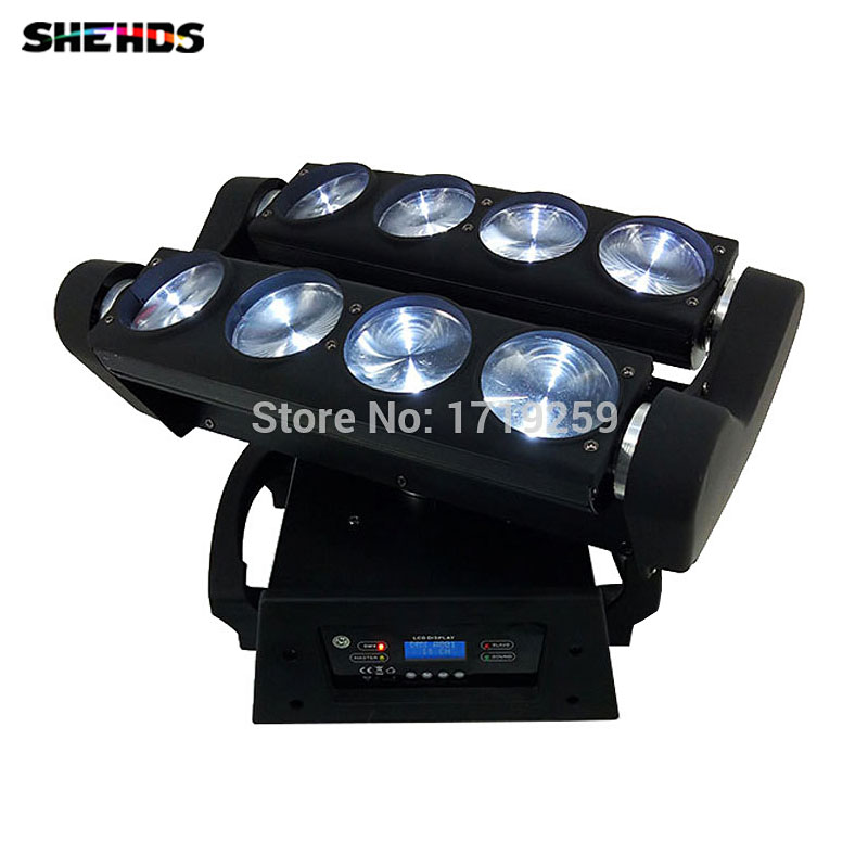 RGBW 4in1 8x10W Spider Moving Head Stage Effect Light LED Beam DMX512 For Professional Party Disco DJ Light cree rgbw 4in1 dmx led moving head spider light 8 eyes beam light stage light christmas dj disco party light