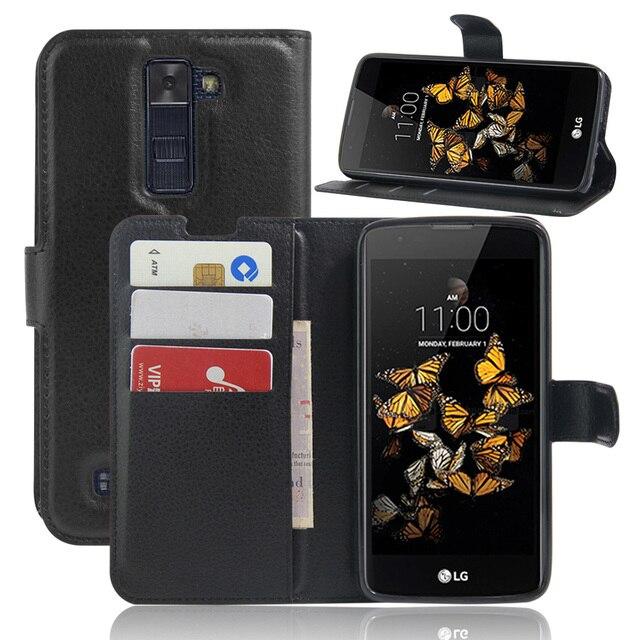 Đối VỚI LG K8 Lte Wallet Trường Hợp Magnetic Leather Case Đối Với LG K8 Lte K350 K350E K350N 5.0 Leather Filp Cover Fundas với Chủ Đứng