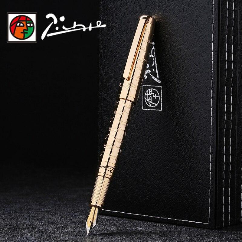 Picasso Luxury Full Metal Iraurita fountain pen 0 5mm ink pens dolma kalem Caneta tinteiro Stationery