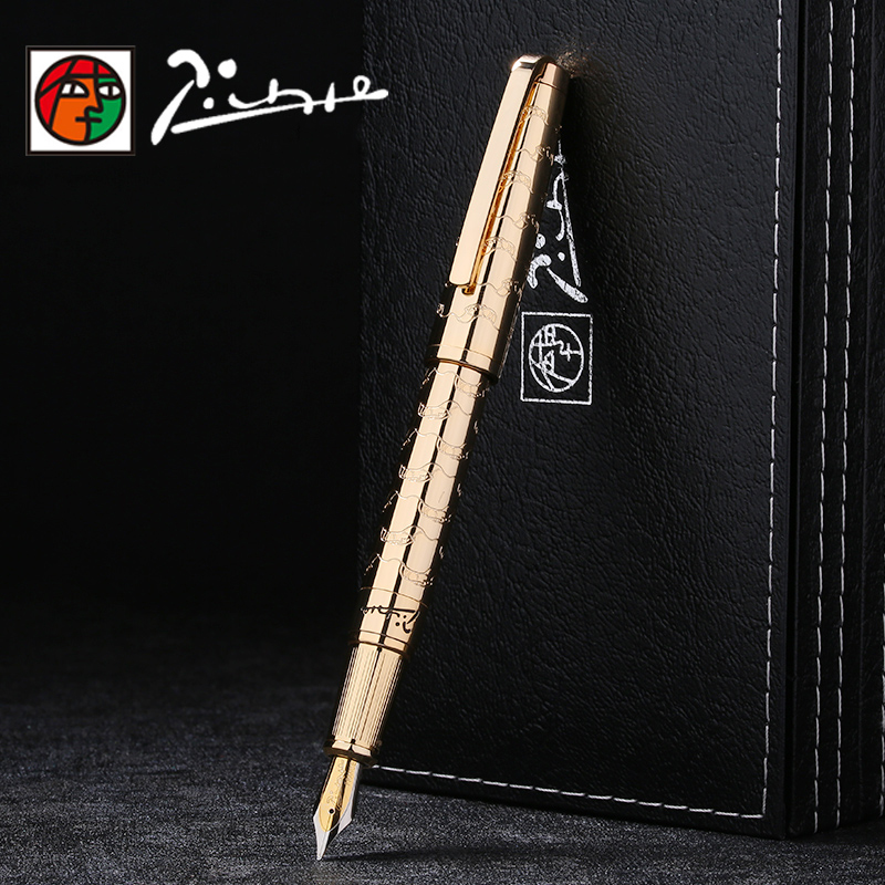 Picasso Luxury Full Metal Iraurita fountain pen 0.5mm ink pens dolma kalem Caneta tinteiro Stationery signing pens 1040 high quality luxury iraurita fountain pen ink pen nib gold picasso monaco stylo plume penna stilografica caneta tinteiro 3834