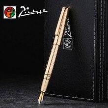 Picasso luksusowe w całości z metalu wieczne pióro iraurita 0.5mm pióra atramentowe dolma kalem Caneta tinteiro biurowe długopisy do podpisywania 1040