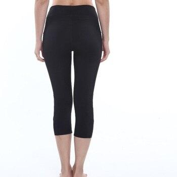 Yoga Leggings Capri Pant Leggins Sport Women Fitness Yoga Pants Gym Legging Women Black Mesh 3/4 Pants 1