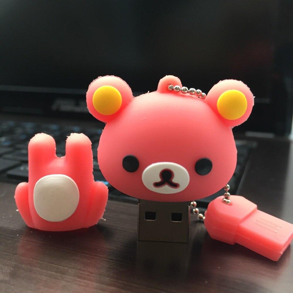 2019 New Usb Flash Drive Cute Cartoon Bear Pen Drive 4gb 8gb 16gb 32gb 64gb 128gb Pendrive High Quality Usb Stick Free Shipping (4)