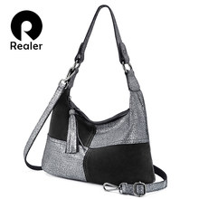 65b98aa5327476 REALER women bag genuine leather large capacity shoulder bag crossbody  fashion tote bag hobo designer handbags