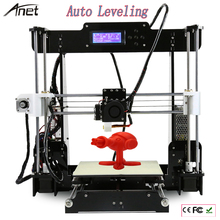 Auto Leveling A8& Normal A8 Reprap Prusa I3 Big Size 220*220*240mm DIY 3D Printer Kit with free Filament+8GB SD Card+LCD+ Hotbed