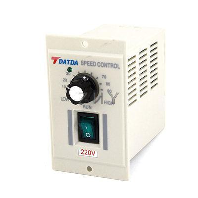 Off White Casing Input AC 220V Output DC 180V Motor Speed Controller ac 220v input dc 180v output green i o 2 position switch motor speed controller