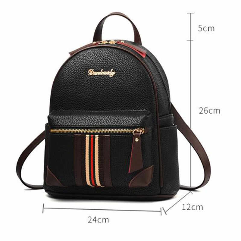 ... 2018 Mini Leather Women Backpack College School Bags for Teenage Girls  Children Travel Casual Female Shoulder ... 0ceb89368c4be