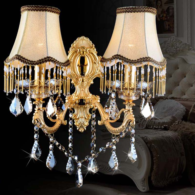 Led Wall Mirror Lamp Luxury Bedroom Wall Lights Crystal ...