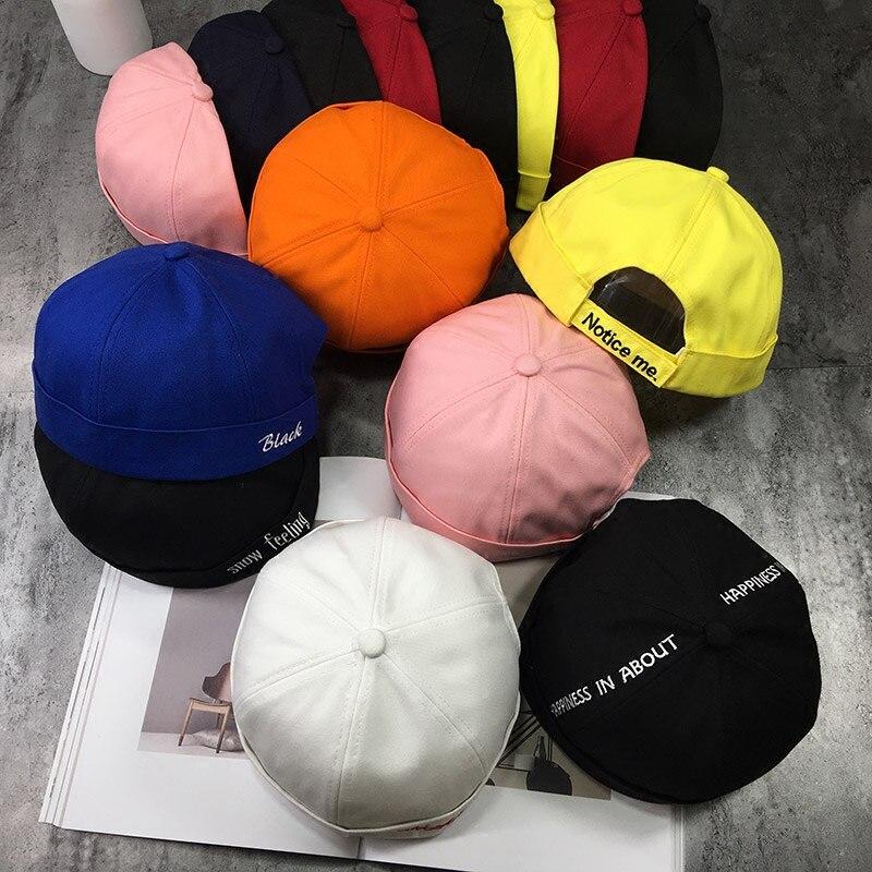 Detail Feedback Questions about Skullcap Brimless Hat Women Men skullcap  Sailor Cap Cuff Retro Brimless Beanie Hat Solid Color Cotton Short Beanie  Strap Cap ... 590bc11414fe