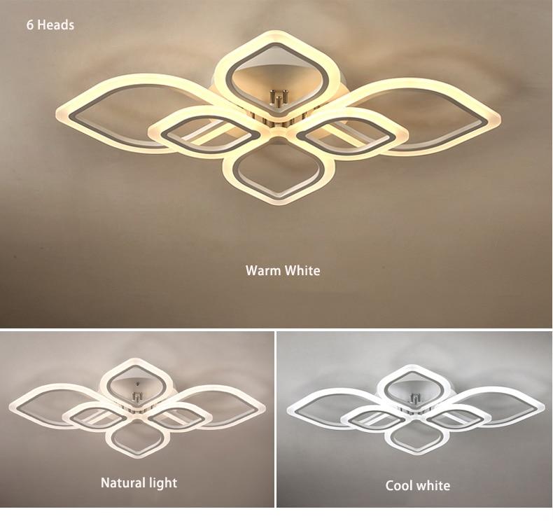 HTB1LGGNXOfrK1RjSspbq6A4pFXab Modern Chandeliers Led to Living Room Bedroom Dining Room Acrylic Ceiling Lamp Chandelier Home Indoor Lighting
