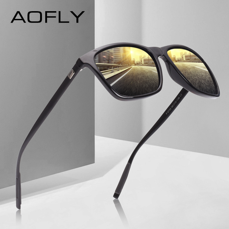 AOFLY Classic Polarized Sunglasses Fashion Style Sun Glasses for Men/Women Vintage Brand Designer oculos de sol masculino UV400