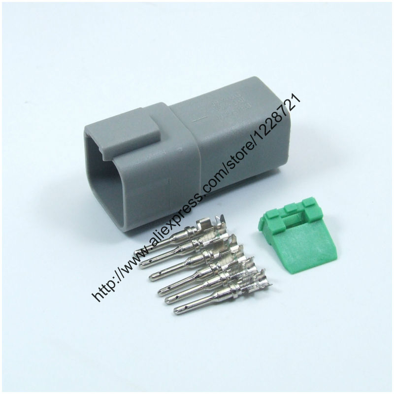 popular 6 pin wiring plug buy cheap 6 pin wiring plug lots from 6 way plug connector kit dt06 6s 6 pins female wire connector kit complete