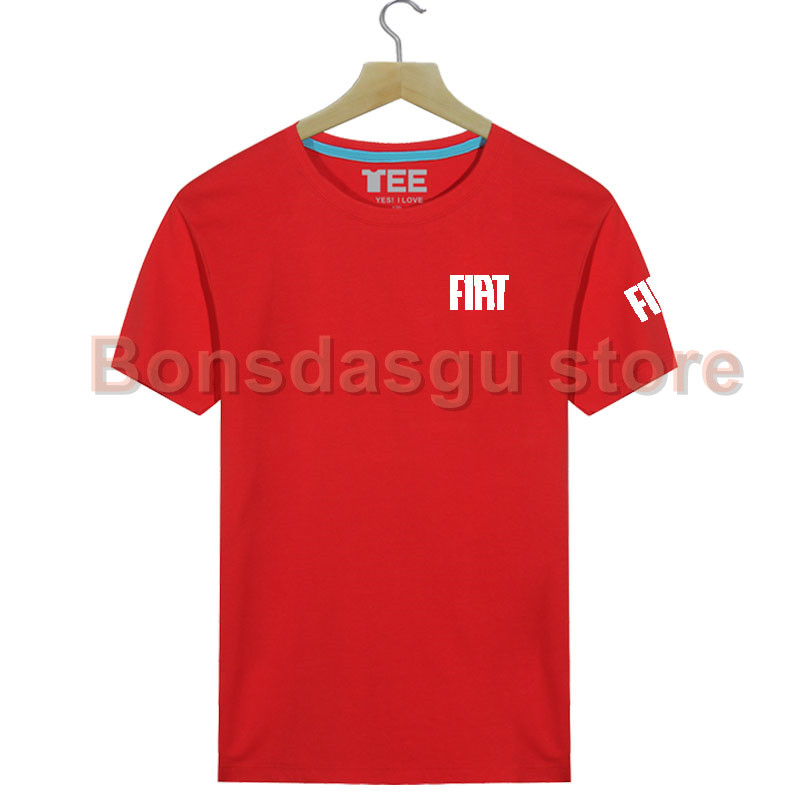 Fiat car logo Funny T Shirt wome and mens T Shirt Summer Cotton Short Sleeve Tees shirt