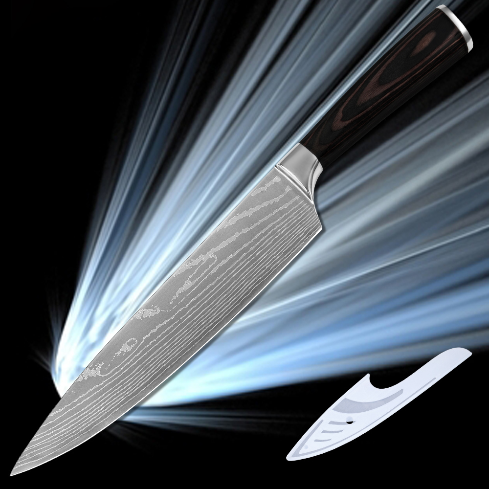 ▻XYJ Brand best 8 inch chef knife professional kitchen knife 7cr17 ...