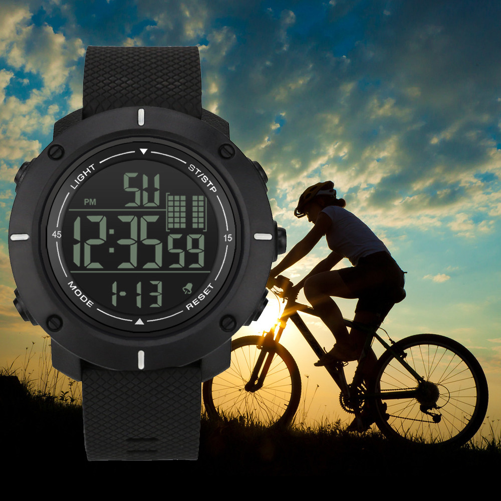 Digital Watches 2019 Men Hombre Reloj 30M Waterproof Sport LED Digital Dual Military Electronics Watch Movement Homme Montre MD5