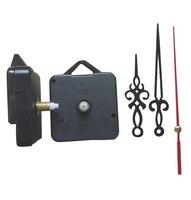 50pcs Classic Hanging Black Quartz Clock Movement Mechanism Parts Repair DIY Essential Tools Quiet Hollow Out Hands 18.5mm shaft