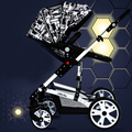 Stroller high landscape can sit or lie baby stroller suspension children deck  free delivery